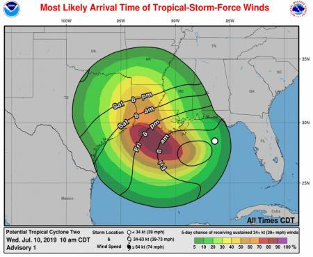Update On Storm In The Gulf