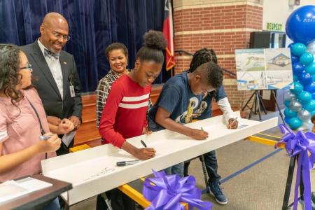 Spring Community Celebrates New School