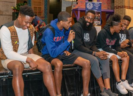 James Harden Talks To Students About Drinking & Driving