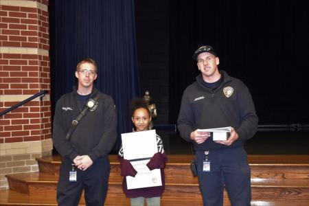 Fire Prevention Coloring Contest Winner